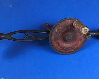 Antique hand crank shoulder drill
