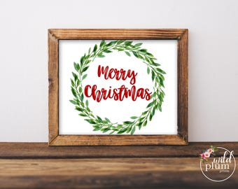 Merry Christmas Print- Instant Download