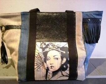 Tote bag fringes and tassels