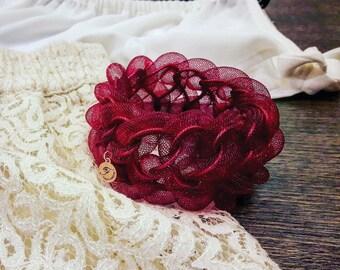 """Bracelet """"CRYO"""" dress, elegant, customizable colour, voluminous yet lightweight bracelet, modern, novelty, gift ideal bracelet"""