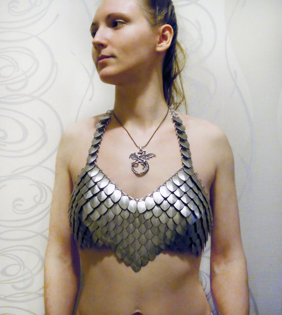 Khaleesi scale mail top xs m chainmail dragon scalemail khaleesi scale mail top xs m chainmail dragon scalemail bikini fantasy costume warrior armor game of thrones burning man sciox Choice Image