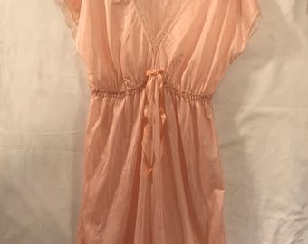 Softness Bedgown in peach