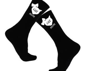 Cat Lover Gift Women 2017 Cat Mom Women Novelty Socks Novelty Sock For Her Novelty Sock For Men Cat Lover Gift Men 2017 Cat Dad