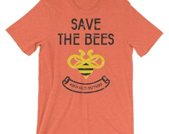 Save the Bees - Unisex short sleeve t-shirt