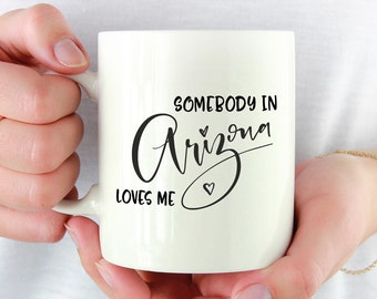 Missing You, I Miss You, I Miss Your Face, Arizona Mug, Moving Mug, Long Distance Mug, Arizona State Mug, Moving Away Mug, She Loves Me