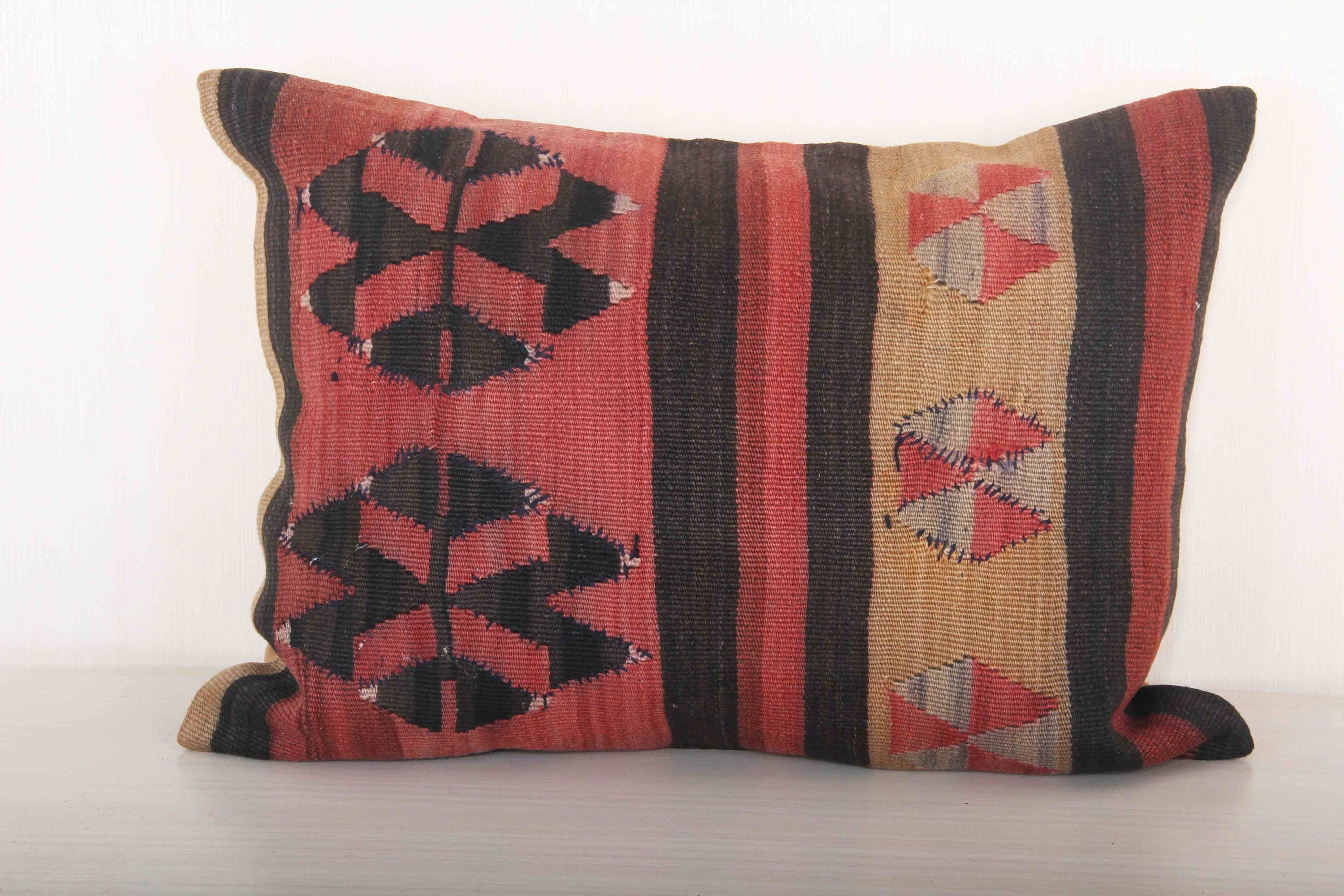 red and black pillow cover 24x18 bed throw pillows kilim
