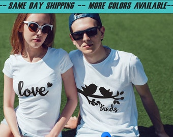 couple t shirts, matching tees, couple tees, matching t-shirts, matching t-shirt set, his hers shirts, love t shirts, family matching shirts