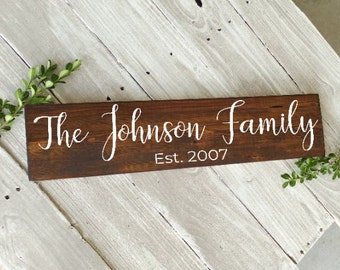 Personalized Sign, Last Name Sign, Housewarming Gift, Personalized Wood Sign, Family Name Sign, Rustic Sign, Wood Wall Decor, Home Decor