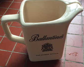 Ballantines scotch advertising pitcher made in Italy vintage ceramic