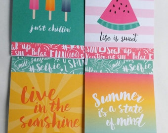 Summer note card set of 8 with envelopes