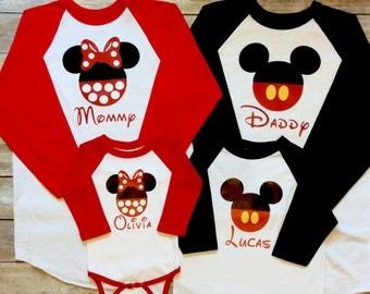 Disney Family Shirts, Mickey Family Raglan Baseball Tees, Mickey Family Shirts, Mickey Raglan Shirts, Mickey Baseball Tees, Disney Trip
