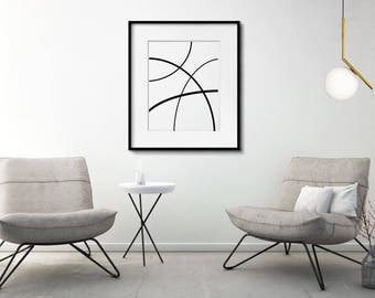 Black and White Art, Abstract Art, Minimalist Art, Contemporary Art, Modern Art, large abstract art