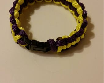 Purple and Yellow Paracord Bracelet