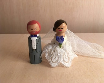 Custom Wedding Cake Topper Doll