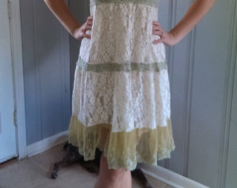 Vintage Lace A-Line Shift Dress