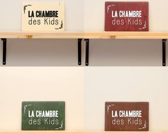 La chambre des kids - vinyl on varnished wood (choose from a range of colours) - Home decor