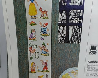 Denmark Vintage Needlepoint from Solvang | Snow White and the 7 Dwarfs