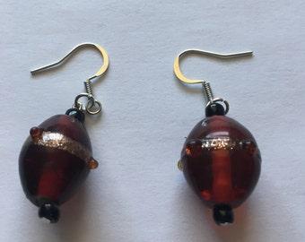 Red & Black Darling Drop Earings