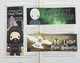 Wizard - 3 Pack Of Bookish Bookmarks