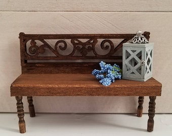 Dollhouse Furniture, Miniature Bench, Dollhouse Bench, Garden Bench, Entryway Bench, Dollhouse Miniatures, Bench Seating, Handmade