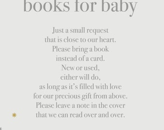 Minimal Simple Books for Baby Card, Set of 2 in a 5x7, Gender Neutral, Digital Download