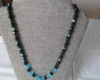 Iridescent Black w/Blue Necklace