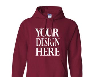 Custom Customizable Hooded Hoodie Sweatshirt Heavy Blend Sweater Family Business Event Wholesale Bulk Personalized Vinyl Printed