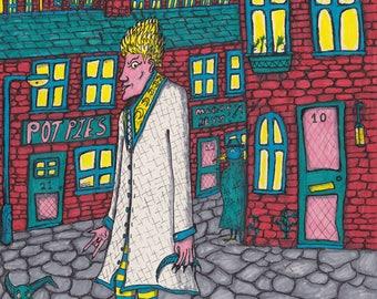 Wizard on the Town - Original Artwork (Unframed)