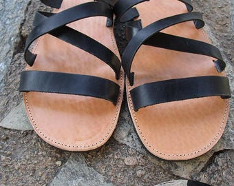 Men's Sandals, Handmade Sandals, Leather Sandals, Black Sandals,Sandals for Men,Mens Leather Sandals,Greek Sandals, ARISTOTLES