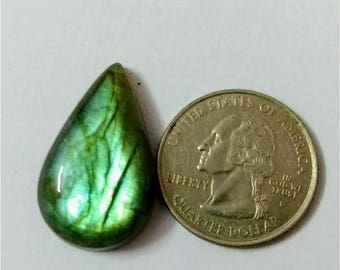 29.20 x 17.72 mm,Pear Shape/Tear Drop Labradorite Cobochon/Green Flash/wire wrap stone/Super Shiny/Pendant Cabochon/Semi Precious Gemstone
