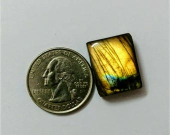 20.30x16.45 mm,Octogen Shape Labradorite Cobochon/ Golden Flash/wire wrap stone/Super Shiny/Pendant Cabochon/Semi Precious Gemstone/labra