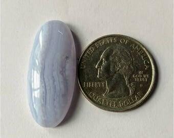 32.75 x 14.35 mm,Ovel Shape Blue Lace Agate Cabochon/Attractive Blue Lace Agate/wire wrap stone//Pendant Cabochon/SemiPrecious Gemstone