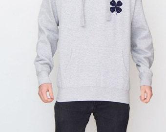 Grey Clover (Navy) Hoodie