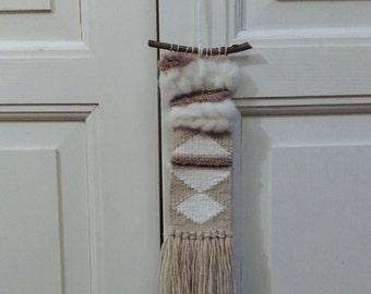 Mini woven wall hanging