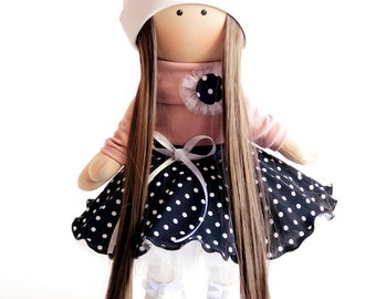 Gift Soft doll Animal toy Baby gift doll  Gift ideas for baby Rag doll Cloth doll  Handmade doll Art doll Baby girls gift