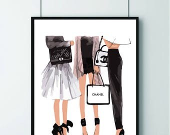 CHANEL Print, Girls Bedrooms, Dressing Room Print, Print Present, FASHION, Chanel, friends!