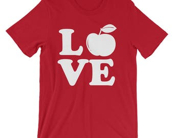 Teacher Shirt - Teacher Gift for Teacher - Teacher T-Shirt - Teacher Tshirt - Teacher Love Teaching Shirt - Teacher Apple Shirt - Principal