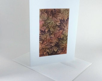Maple tapestry no. 13 blank card, individually handmade, not a reproduction: A7, notecards, fine cards, SKU BLA71018