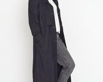VINTAGE Black Retro Lightweight Coat
