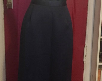 1910 style Black Satin Skirt with small train in the back