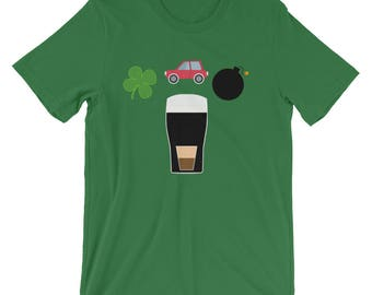 Irish Car Bomb St. Patrick's Day Green Short-Sleeve Unisex T-Shirt