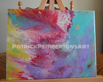 Muti colored Absrtact Art on canvas.