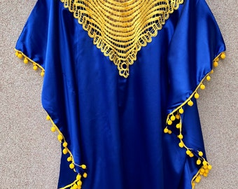Gown Bia Lisa, blue and Yellow