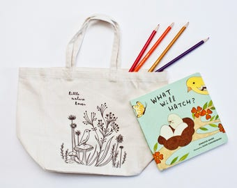 cute TOTE BAGS for kids, tote bag for toddler, canvas tote bag, tote bag for toddler, small tote bag, organic tote bag, screen printed tote