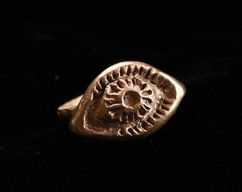 Mystic Eye Ring   Bronze Size 8