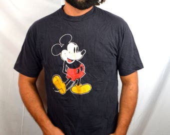 Classic 80s Vintage Mickey Mouse Tee Shirt Tshirt
