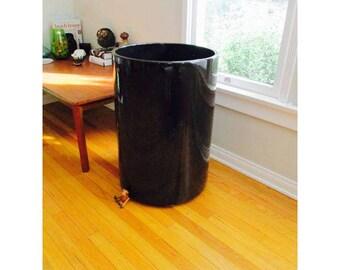 Huge Black Gainey Ceramics Architectural Pottery Pot Planter