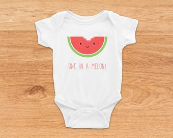 Funny Onesie, Funny Baby Gift, Watermelon Onesie, Baby Shower Gift, Cute Baby Clothes, Baby Girl Onesie, Baby Boy Onesie, Funny Baby Clothes