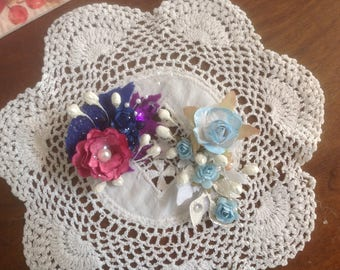 Wedding Hair Clip or Pin Accessories 2 Included in Your Color Choice