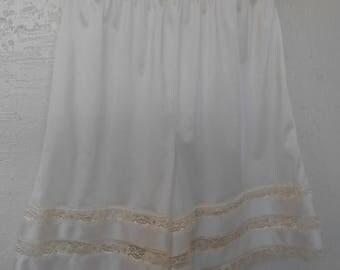 Pettipants Panty Panties Beige Knickers Vintage Bloomers Velrose Large